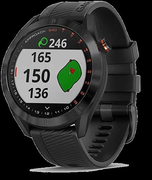 Garmin Approach S40 - Stylish GPS Golf Smartwatch - Lightweight with Touchscreen Display