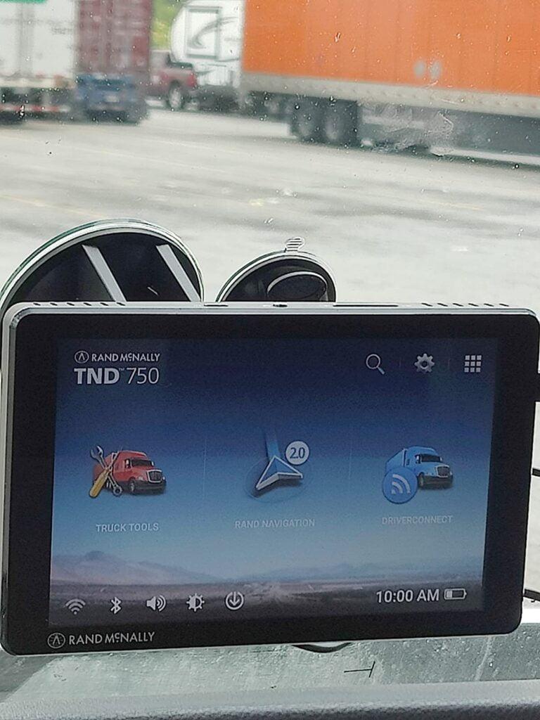 Rand McNally TND 750 Truck GPS Navigator